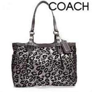 Coach Metallic Cheetah Print Ocelot Shoulder